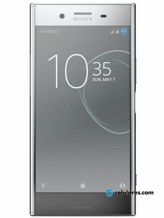Fotografía grande Varias vistas del Sony Xperia XZ Premium Cromo y Negro. En la pantalla se muestra Varias vistas
